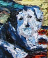 Detail of Eli's painting of their dog Lilac